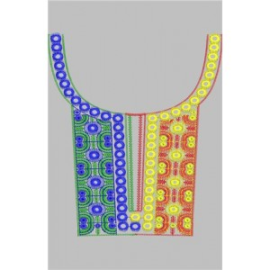 Neckline Embroidery Designs 13