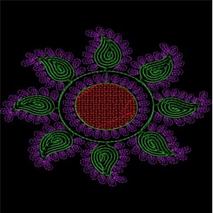 Sequin Embroidery designs 13