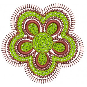 Sequin Flower Embroidery Designs 1
