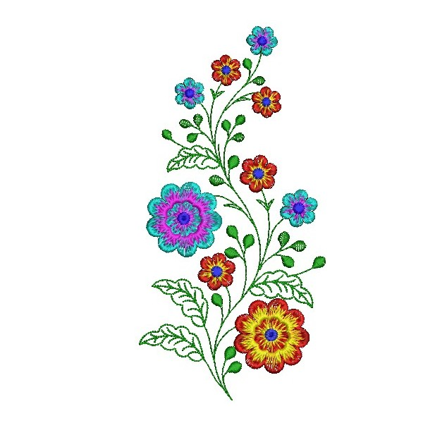Flower plant embroidery designs embroideryshristi