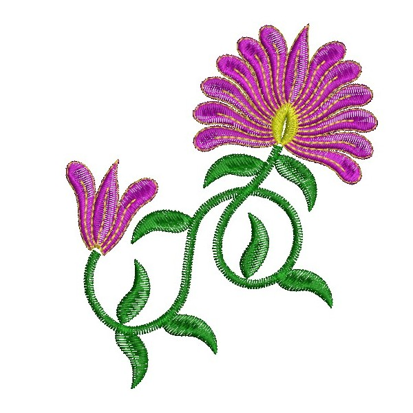 Flower Embroidery Designs 4