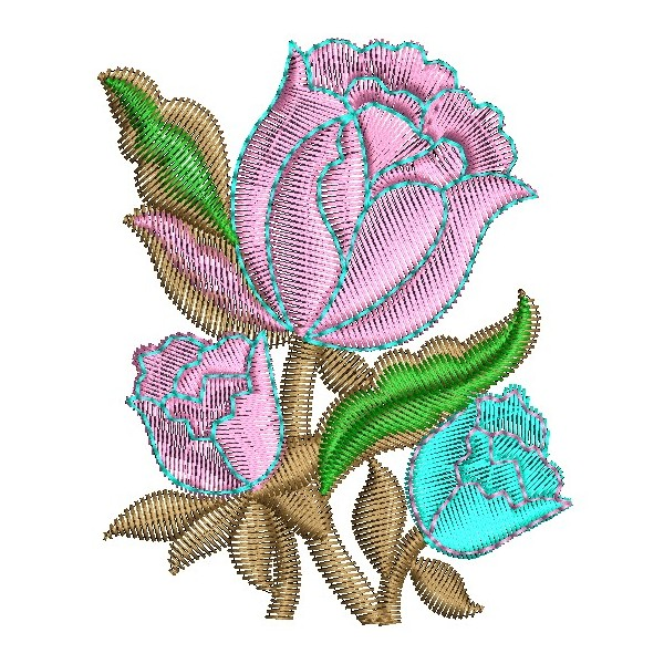 Pink rose embroidery design embroideryshristi