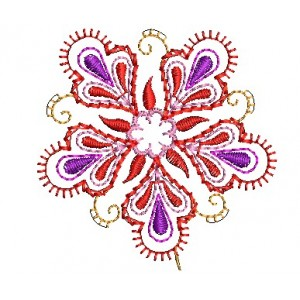 Pink Flower Embroidery Designs