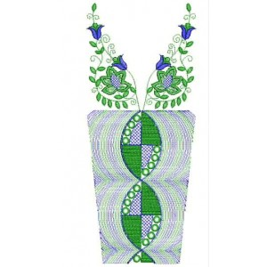 Neckline Flora embroidery designs 1