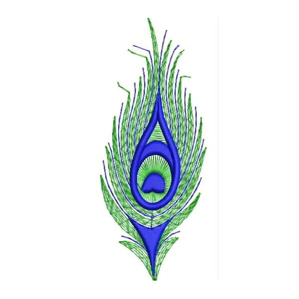 Peacock Tail Embroidery Design
