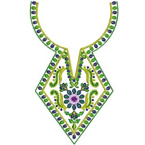 Traditional Neckline Embroidery design