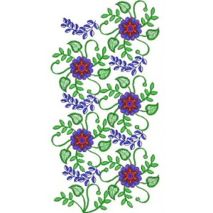 New  Flowers Embroidery design