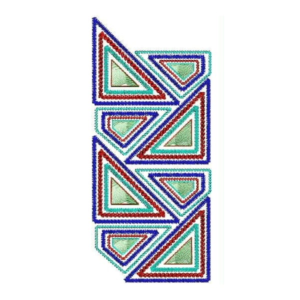 Small triangles embroidery designs