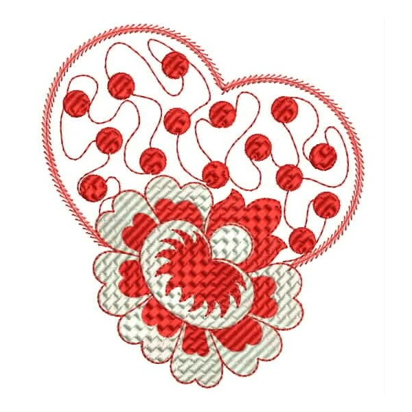 Heart embroidery designs