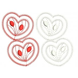 Four Heart Embroidery Designs