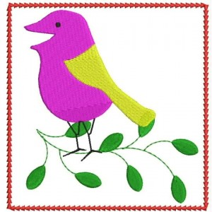 Bird in a Frame Embroidery Designs