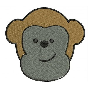Monkey face designs embroidery designs