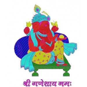 Shri Ganesh Embroidery Design 5