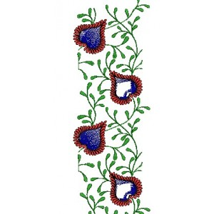 Heart embroidery jaal designs