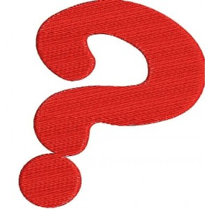 Question Mark Embroidery Designs