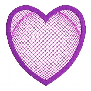 3D Motif filled Heart Applique Embroidery Freebie