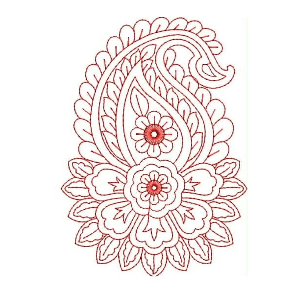 Line Art Embroidery : Red work embroidery designs