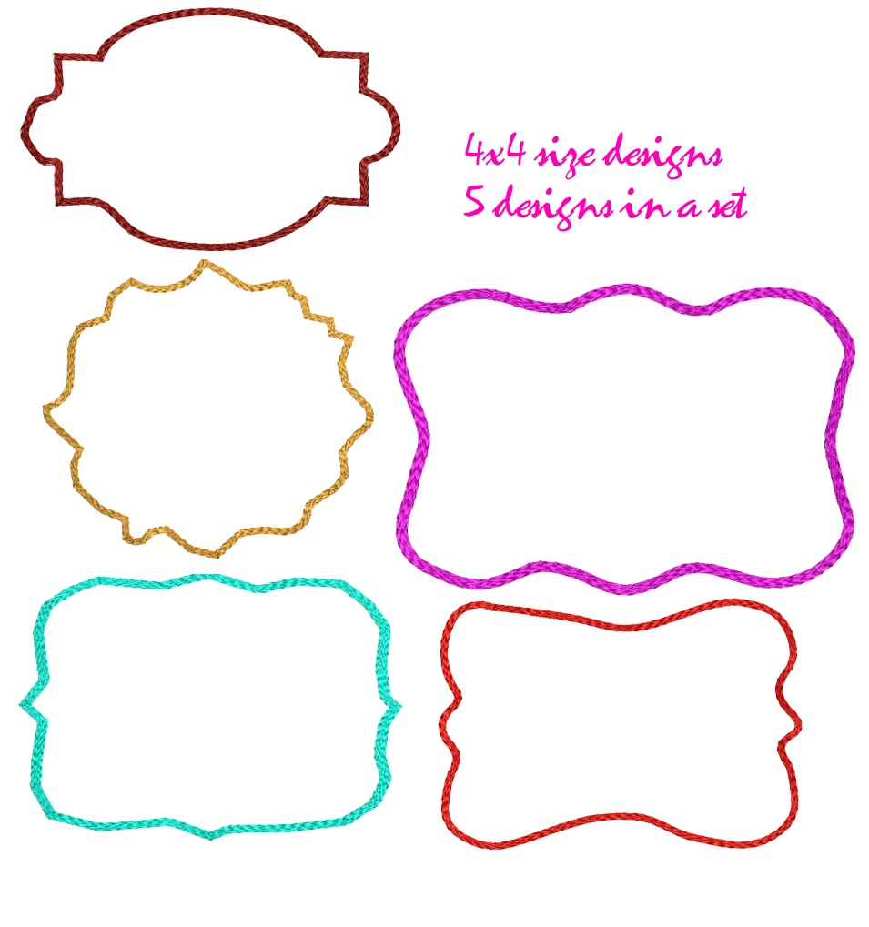 free embroidery frame designs embroidery frame designs set