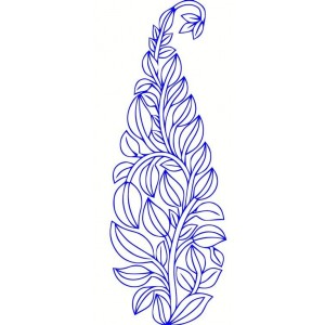 Clipart bluework leaf embroideryshristi 24