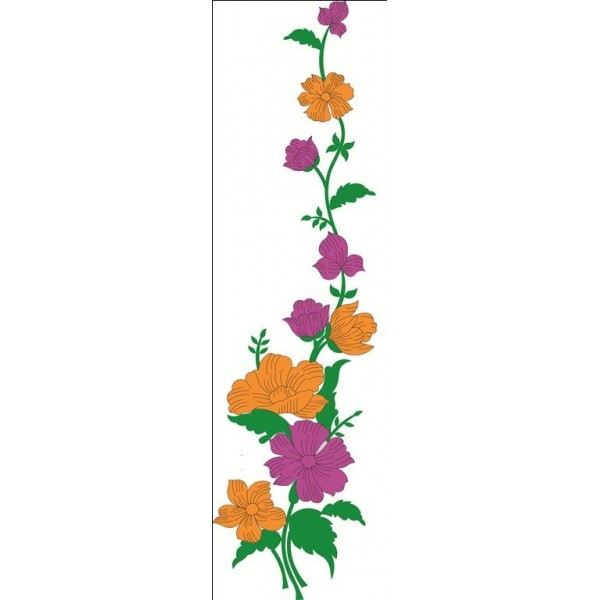 Large Floral Flower Clipart 26 - EmbroideryShristi