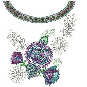 Large Hoops Neckline Embroidery Designs freebie 1028