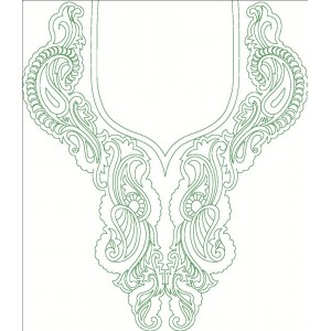 Green Outline Neckline Clipart 41