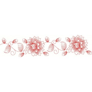 Clipart_Red work Border Clipart 45