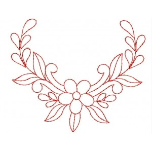 Red work embroidery designs 1083
