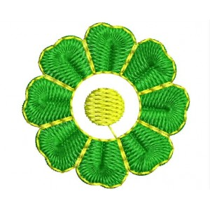 Green flower Embroidery Designs 1