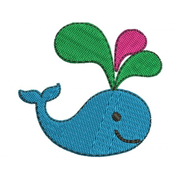 Kids Colourful Whale Embroidery Designs Embroideryshristi