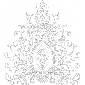 Decor Prenium paisely clipart 48