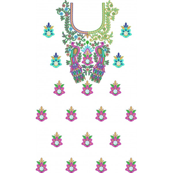 Full dress peacock embroidery designs embroideryshristi