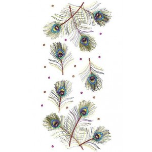 peacock tail machine Embroidery Designs