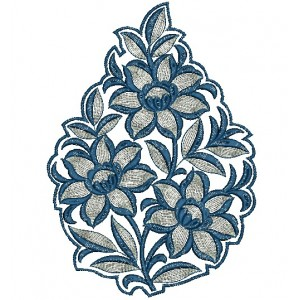 Flower embroidery designs 3063