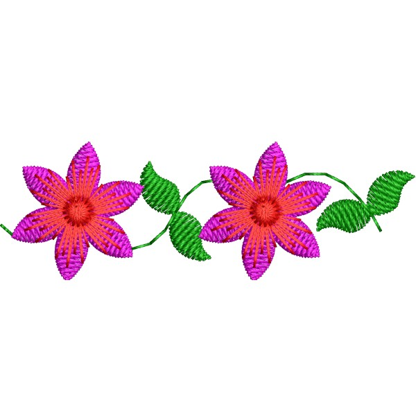 Small Decor Border Flower Designs - Embroideryshristi
