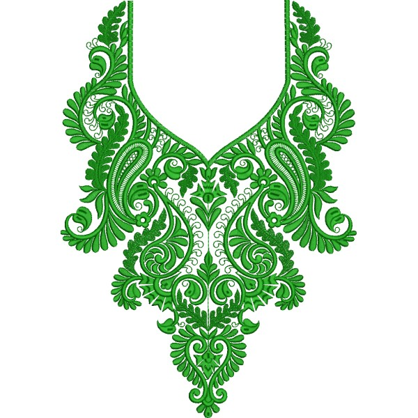 Green neckline embroidery designs embroideryshristi
