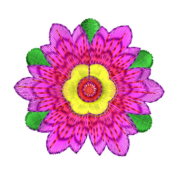 Pink And Green Shristi Flower Designs Embroideryshristi