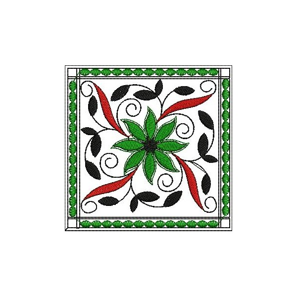 Square Quilt like Embroidery Designs - EmbroideryShristi