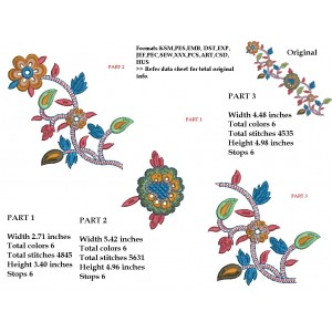 Split Flower Border Designs