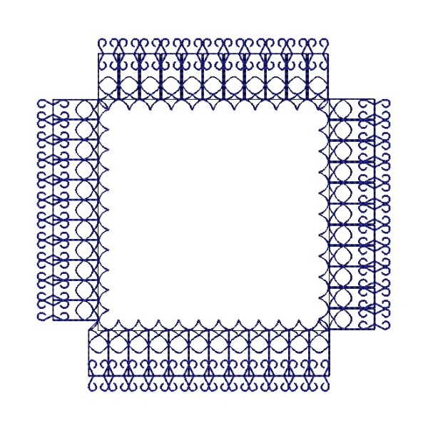 Simple motif frame embroidery designs embroideryshristi