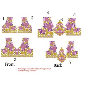 Traditional Neckline Embroidery Designs Split