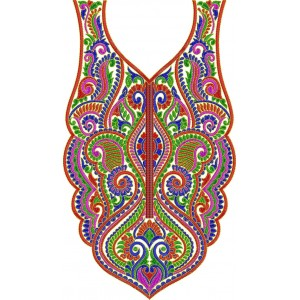 Traditional Neckline Embroidery Designs 00