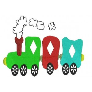 Free Toy Train Embroidery Designs
