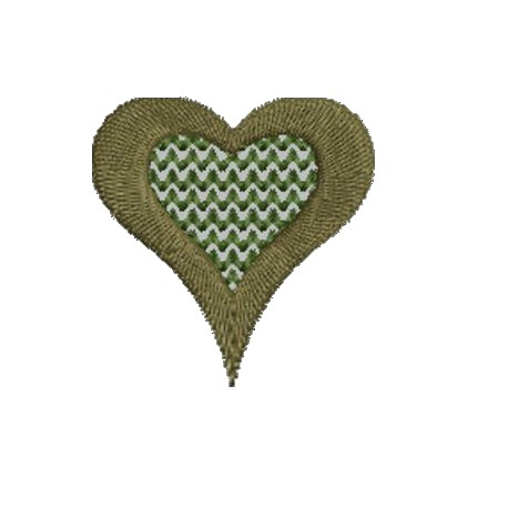2x2 Heart Embroidery Design