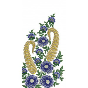 Large Floral Embroidery Design