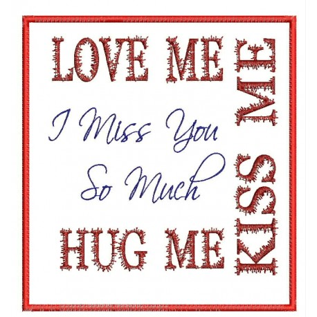 I miss you so much Embroidery Design
