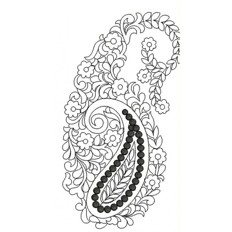 elegant paisely outline designs free embroidery design embroidery