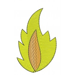Fire Flame embroidery design 2
