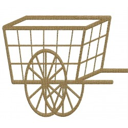 Bullock Cart Embroidery Design 5x7