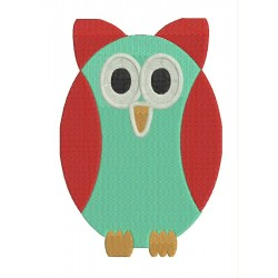 Sweet Owl Embroidery Design